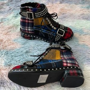 Jeffrey Campbell & Free People Lilith Tartan boots